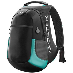 The NRGbag Series 2 in teal combines 40L of capacity, water-resistant rugged material and 16000mAh of rechargeable battery to create the ultimate tech backpack.