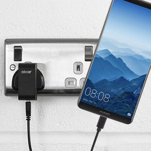 Charge your Huawei Mate 10 Pro and any other USB device quickly and conveniently with this compatible 2.5A high power USB-C UK charging kit. Featuring a UK wall adapter and USB-C cable.