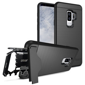 Prepare your Samsung Galaxy S9 Plus for the great outdoors with the rugged X-Ranger case. With a handy kickstand and a secure compartment for the included multi-tool - or the card of your choice - you'll be ready for anything.