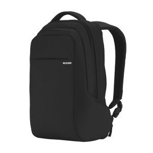 Organize, protect and carry your MacBook and other essentials with ICON Slim Laptop Backback in black. With faux-fur lined pockets, padded shoulder straps and 14.5L of capacity, the ICON Slim is the ultimate backpack.