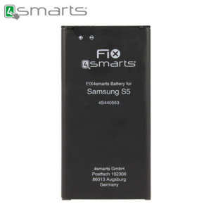 This FIX4smarts battery for Samsung Galaxy S5 comes with first-class, certified OEM quality and compatibility. It is a durable and reliable choice for any Samsung Galaxy S5 user, who is suffering from poor battery life. 2800mAh battery capacity.