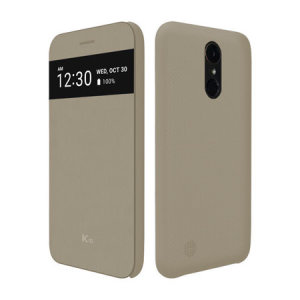 The LG K10 2017 Quick View case in beige offers excellent protection and functionality in a sophisticated package. The main feature of this case is that it gives you access to notifications and calls without you having to open up the case.