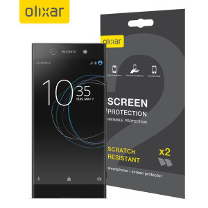 Keep your Sony Xperia XA1 Ultra's screen in pristine condition with this Olixar scratch-resistant screen protector 2-in-1 pack.