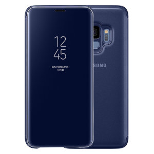 This Official Samsung Clear View Cover in blue is the perfect way to keep your Galaxy S9 smartphone protected whilst keeping yourself updated with your notifications thanks to the clear view front cover.
