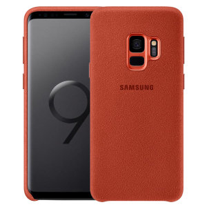 Protect your Samsung Galaxy S9 with this Official Alcantara case in red. Stylish and protective, this case is the perfect accessory for your Galaxy S9.