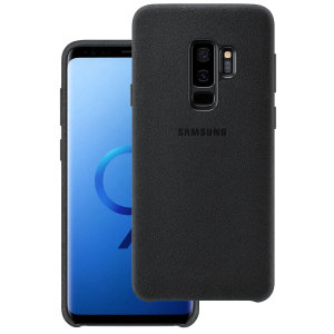 Protect your Samsung Galaxy S9 Plus with this Official Alcantara case in black. Stylish and protective, this case is the perfect accessory for your Galaxy S9 Plus.