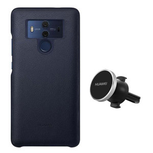 Hold your phone safely in your car while shielding it from damage with this official Huawei magnetic car holder / protective case combo for your Huawei Mate 10 Pro.