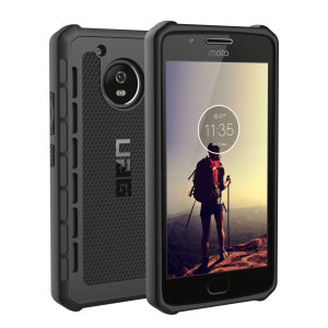 The Urban Armour Gear Outback for the Motorola Moto G5 features a protective TPU case in black with cleverly conceived anti-skid pads and a  lightweight but rugged frame - all in one sleek protective package.