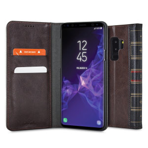 The Olixar XTome in brown protects your Samsung Galaxy S9 Plus, just as the vintage hardback leather-bound books of old protected their contents. With classic styling, wallet features and magnetic closure, this is one volume you won't want to miss.