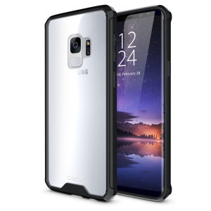 Custom moulded for the Samsung Galaxy S9. This black Olixar ExoShield tough case provides a slim fitting stylish design and reinforced corner shock protection against damage, keeping your device looking great at all times.