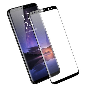 Keep your Samsung Galaxy S9's screen in pristine condition with this Olixar Tempered Glass screen protector, designed to cover and protect even the curved edges of the phone's unique display. Black edges match the phone perfectly.