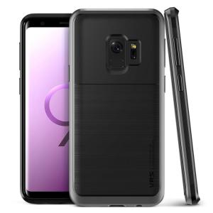 Protect your Samsung Galaxy S9 with this precisely designed High Pro Shield series case in steel silver from VRS Design. Made with tough dual-layered yet slim material, this hardshell body with a sleek bumper features an attractive two-tone finish.