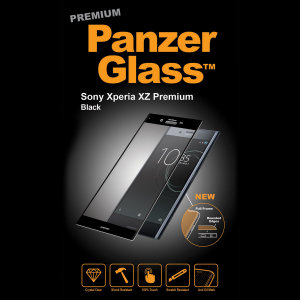 Introducing the premium range PanzerGlass glass screen protector in black. Designed to be shock and scratch resistant, PanzerGlass offers the ultimate protection, while also matching the colour of your stunning Sony Xperia XZ Premium.