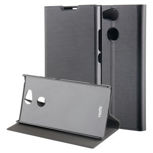 This officially licensed black standing book case by Roxfit houses the Sony Xperia XA2 within a form fitting frame, which includes an ultra-high quality protective shell and a super-slim PU front flap. Also comes with a handy horizontal stand function.