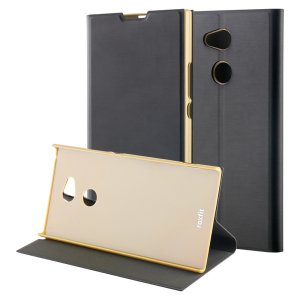 This officially licensed gold / black standing book case by Roxfit houses the Sony Xperia XA2 Ultra within a slim frame, which includes an ultra-high quality protective shell and a super-slim PU front flap. Comes with a handy horizontal stand function.