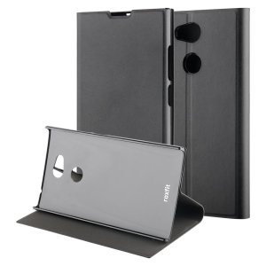 This officially licensed black standing book case by Roxfit houses the Sony Xperia L2 within a form fitting frame, which includes an ultra-high quality protective shell and a super-slim PU front flap. Also comes with a handy horizontal stand function.
