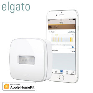 Complete your smart home experience with the Elgato Eve Motion. Use the Eve Motion to activate your HomeKit devices when movement is detected & to enhance your home security, with notifications sent to your device when motion is detected when you're away.