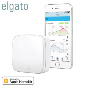 Take control of the air quality of your home with the Elgato Eve Room indoor wireless sensor. With the ability to track air quality, humidity and temperature & Apple HomeKit compatibility - you can gain insights and take action to maintain a healthy home.