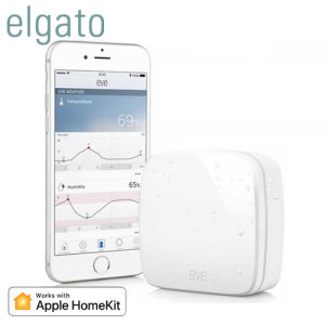 Keep up to date with the weather outside of your home with the Elgato Eve Weather. Gain real-time insights into the temperature, humidity, air pressure & quality outside of your home so that you're ready for any situation. Apple HomeKit compatible.