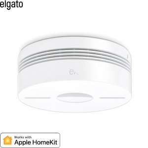 Stay safe and be well aware of fire with the Elgato Eve Smoke. Based on reliable Hager smoke detection technology, this smoke alarm will not only let off a loud tone but also sends you notifications via Apple HomeKit to alert you of any potential fires.