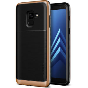 Protect your Samsung Galaxy A8 2018 with this precisely designed High Pro Shield series case in blush gold from VRS Design. Made with tough dual-layered yet slim materials, this hardshell body with a sleek bumper features an attractive two-tone finish.
