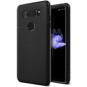 Protect your LG V30 with this precisely designed and durable case from VRS Design. Made with sturdy, yet flexible and premium material, this black polycarbonate hardshell features a slimline design with precise cut-outs for all of your phone's ports.