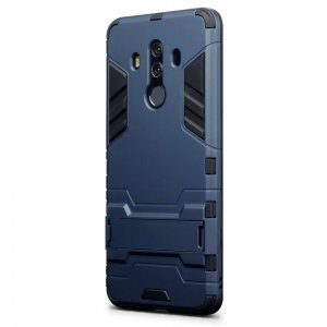 Protect your Huawei Mate 10 Pro from bumps and scrapes with this blue dual layer armour case. Comprised of an inner TPU section and an outer impact-resistant exoskeleton, with a built-in viewing stand.