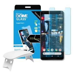 The Dome Glass screen protector for the Pixel 2 from Whitestone uses a proprietary UV adhesive installation to ensure a total and perfect fit for your device. Also featuring 9H hardness for absolute protection, as well as 100% touch sensitivity retention.