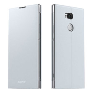 This high quality official bi-fold folio case from Sony houses your Xperia XA2 Ultra smartphone, providing protection and access to your ports and features while incorporating a built-in viewing stand - in silver.