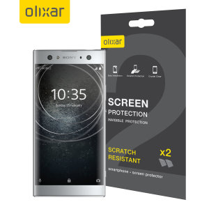 Keep your Sony Xperia XA2 Ultra's screen in pristine condition with this Olixar scratch-resistant screen protector 2-in-1 pack.