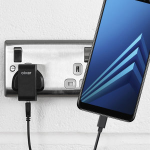 Charge your Samsung Galaxy A8 2018 and any other USB device quickly and conveniently with this compatible 2.4A high power USB-C UK charging kit. Featuring a UK wall adapter and USB-C cable.