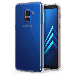 Protect your shiny new Samsung Galaxy A8 2018 with this Rearth Ringke Fusion Dual Layer bumper case. The clear design will perfectly highlight the stunning contours of the Galaxy A8 2018, whilst keeping it protected from bumps and scratches at all times!