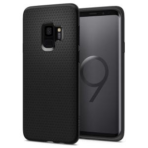 The Spigen Liquid Air in matte black is a TPU lightweight protective case. Spigen's flexible and elastic material reduces the thickness of the case while providing shock absorption and a comfortable grip for your shiny new Samsung Galaxy S9.