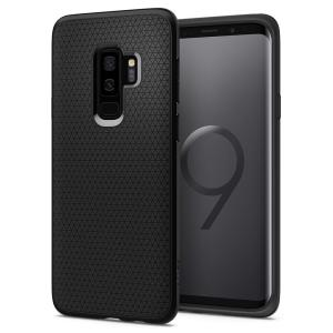 The Spigen Liquid Air in matte black is a TPU lightweight protective case. Spigen's flexible and elastic material reduces the thickness of the case while providing shock absorption and a comfortable grip for your shiny new Samsung Galaxy S9 Plus.