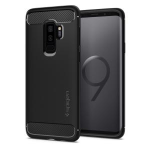 Meet the newly designed rugged armor case for the Samsung Galaxy S9 Plus. Made from flexible, rugged TPU and featuring a mechanical design, including a carbon fibre texture, the rugged armor tough case in black keeps your shiny new phone safe and slim.
