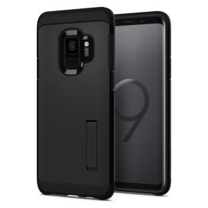The Spigen Tough Armor in black is the new leader in lightweight protective cases. The new Air Cushion Technology corners reduce the thickness of the case while providing optimal protection for your new Samsung Galaxy S9.