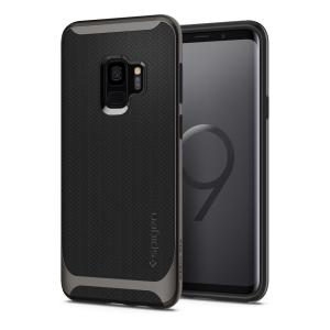 The Spigen Neo Hybrid in gunmetal colour is the new leader in lightweight protective cases. Spigen's new Air Cushion Technology reduces the thickness of the case while providing optimal corner protection for your Samsung Galaxy S9.
