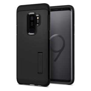 The Spigen Tough Armor in black is the new leader in lightweight protective cases. The new Air Cushion Technology corners reduce the thickness of the case while providing optimal protection for your new Samsung Galaxy S9 Plus.