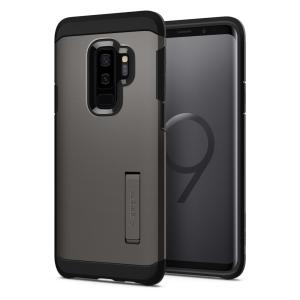 The Spigen Tough Armor in gunmetal is the new leader in lightweight protective cases. The new Air Cushion Technology corners reduce the thickness of the case while providing optimal protection for your new Samsung Galaxy S9 Plus.