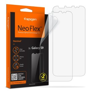 Offering superb clarity and protection, the NeoFlex Screen Protector for the Samsung Galaxy S9 adds an additional layer of defence to your phone's screen against scratches and smudges. Contains two NeoFlex screen protectors per package.