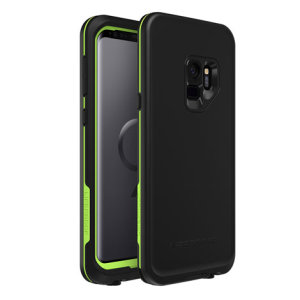 Make your phone waterproof and experience the freedom to surf, sing in the shower, ski, snowboard, work on construction sites and anywhere else you go with the LifeProof Fre Samsung Galaxy S9 case in Night Lite colour set.