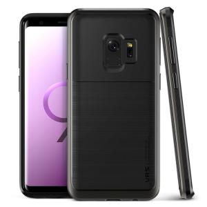 Protect your Samsung Galaxy S9 with this precisely designed High Pro Shield series case in metal black from VRS Design. Made with tough dual-layered yet slim material, this hardshell body with a sleek bumper features an attractive two-tone finish.