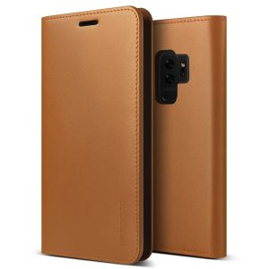 Protect your Samsung Galaxy S9 Plus with this precisely designed flip case in brown from VRS Design. Made with genuine premium leather, the VRS Design Diary oozes style and attractiveness.