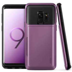 Protect your Samsung Galaxy S9 with this precisely designed case in ultra violet from VRS Design. Made with tough yet slim material, this hardshell construction with soft core features patented sliding technology to store two credit cards or ID.