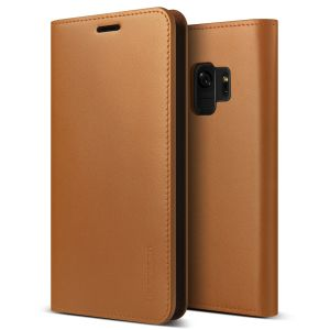 Protect your Samsung Galaxy S9 with this precisely designed flip case in brown from VRS Design. Made with genuine premium leather, the VRS Design Diary oozes style and attractiveness.