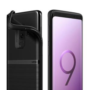 Protect your Samsung Galaxy S9 Plus with this precisely designed and durable case from VRS Design. Made with sturdy, yet flexible premium material, this black polycarbonate hardshell features a slim design with precise cut-outs for your phone's ports.
