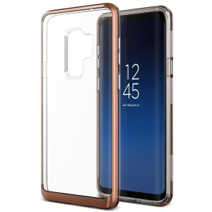Protect your Samsung Galaxy S9 Plus with this precisely designed crystal blush gold case from VRS Design. Made with a sturdy yet minimalist design, this see-through case offers protection for your phone while still revealing the beauty within.