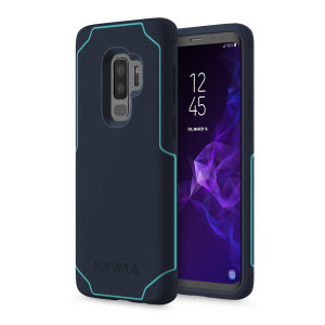 Introducing the Survivor Strong case in blue tint from Griffin. Providing superior coverage, this rugged case is perfect for protecting your Samsung Galaxy S9 Plus in almost any condition.