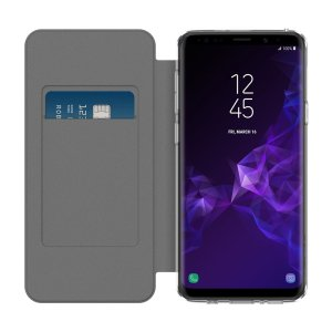 Protect your shiny new Samsung Galaxy S9 Plus with this smoke & black folio case from Incipio. Combining a translucent TPU frame with a high-quality front cover, this case adds protection and also features a card slot for credit or a personal ID card.