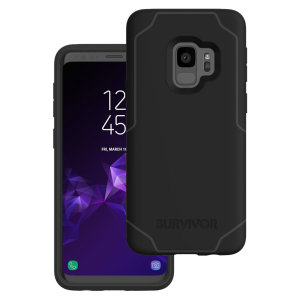 Introducing the Survivor Strong case in Black and grey from Griffin. Providing superior coverage, this rugged case is perfect for protecting your Samsung Galaxy S9 in almost any condition.